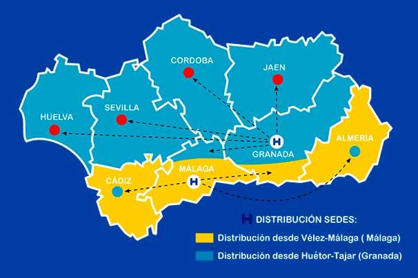 Distribuimos a toda Andalucía